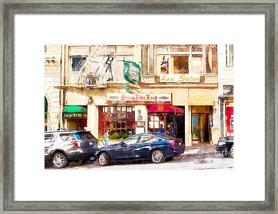 Nostalgic Sears Fine Food Restaurant San Francisco Dsc885wcstyle Framed Print by Wingsdomain Art and Photography