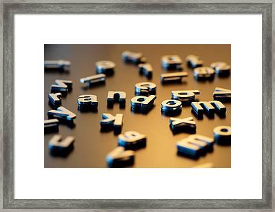 Not So Random Framed Print by Lisa Knechtel