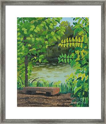 Not Very Secret Spot Framed Print by Lee Alexander