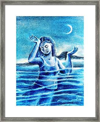 Not Waving But Drowning Framed Print by Trudi Doyle