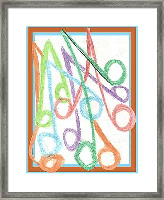 Notes Framed Print by Becky Sterling