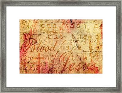 Nothing But The Blood Framed Print by Gary Bodnar