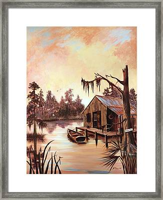 Nothing But Time Framed Print by Nancy Cason