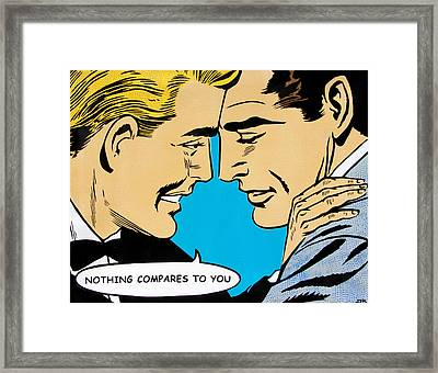 Nothing Compares To You Framed Print by Bobby Zeik
