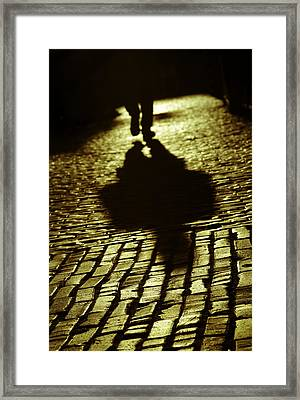 Nothing Hides The Colour Of The Light That Shines Framed Print by Russell Styles