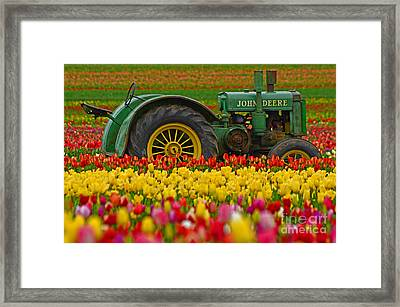 Nothing Runs Like A Deere Framed Print by Nick  Boren