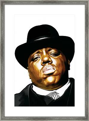 Notorious Big - Biggie Smalls Artwork 2 Framed Print by Sheraz A