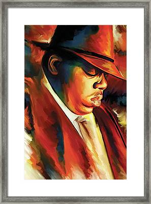 Notorious Big - Biggie Smalls Artwork Framed Print by Sheraz A