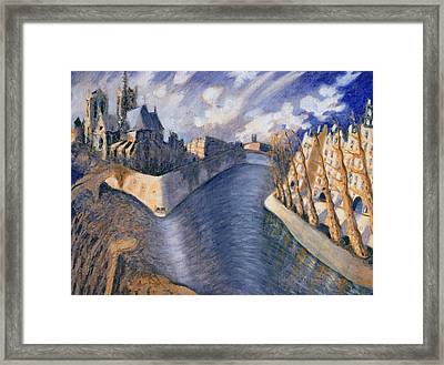 Notre Dame Cathedral Framed Print by Charlotte Johnson Wahl