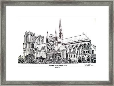 Notre Dame Cathedral - Paris Framed Print by Frederic Kohli