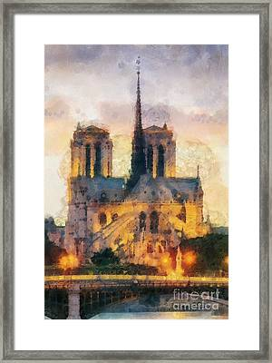 Notre Dame De Paris Framed Print by Mo T
