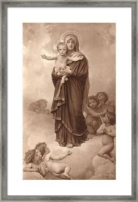 Notre-dame Des Anges  Framed Print by William Bouguereau