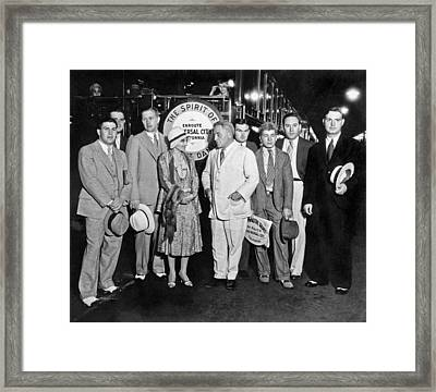 Notre Dame Football Movie Framed Print by Underwood Archives