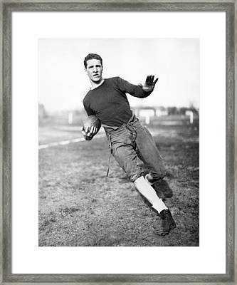 Notre Dame Football Player Framed Print by Underwood Archives