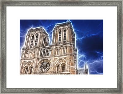 Notre Dame Fractal Framed Print by Pati Photography