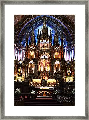 Notre Dame Interior Framed Print by John Rizzuto