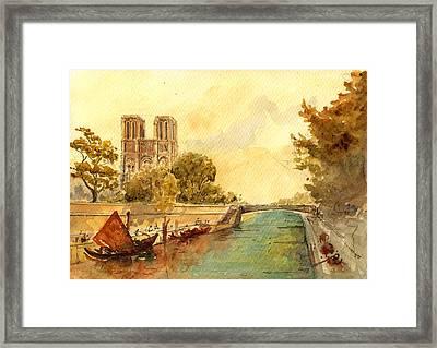 Notre Dame Paris. Framed Print by Juan  Bosco