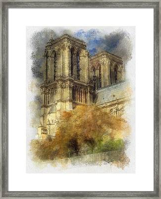 Notre Dame Twin Towers Framed Print by Rick Lloyd