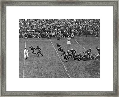 Notre Dame Versus Army Game Framed Print by Underwood Archives