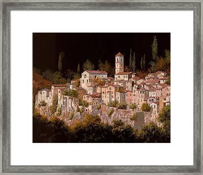 Notte Senza Luna Framed Print by Guido Borelli