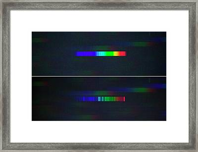 Nova Delphini Spectrum Framed Print by Dr Juerg Alean