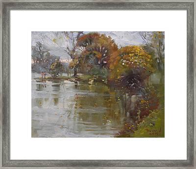 November 4th At Hyde Park Framed Print by Ylli Haruni
