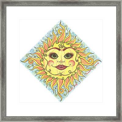 November Harvest Time Sun Framed Print by Beckie J Neff