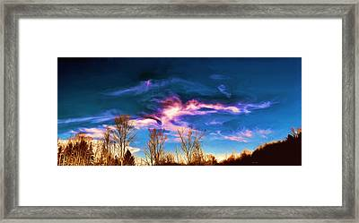 November Skies Framed Print by Dennis Lundell