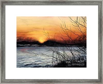 November Sunset Framed Print by Barbara Jewell
