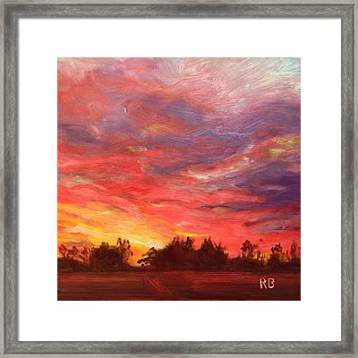 November Sunset  Framed Print by Robie Benve