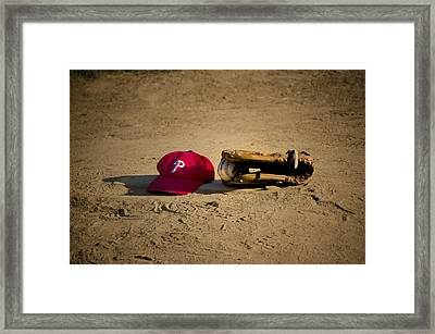 Now Pitching For The Phillies Framed Print by Bill Cannon