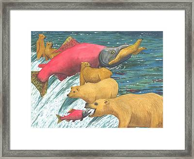 Now That's A Keeper Framed Print by Catherine G McElroy
