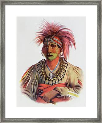 Nowaykesugga, An Otto, Illustration From The Indian Tribes Of North America, Vol.3, By Thomas L Framed Print by Charles Bird King