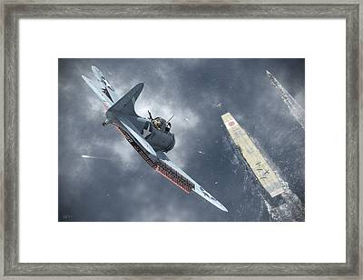 Nowhere To Hide Framed Print by Robert Perry