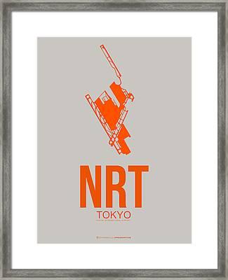 Nrt Tokyo Airport 1 Framed Print by Naxart Studio