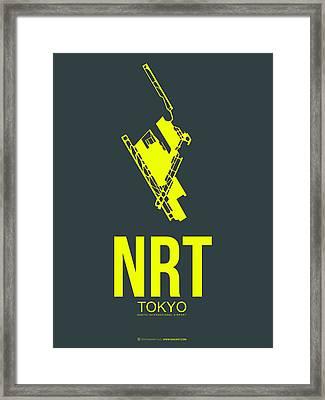 Nrt Tokyo Airport Poster 2 Framed Print by Naxart Studio