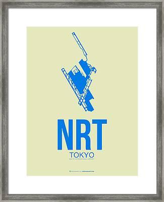 Nrt Tokyo Airport Poster 3 Framed Print by Naxart Studio