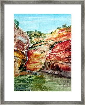 Nt Gorge Australia Framed Print by Roberto Gagliardi