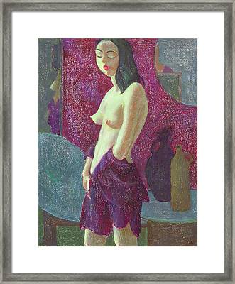 Nu 10 Framed Print by Leonid Petrushin