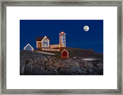 Nubble Light Cape Neddick Lighthouse Framed Print by Susan Candelario
