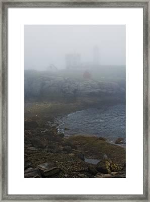 Nubble Light Framed Print by Joseph Smith