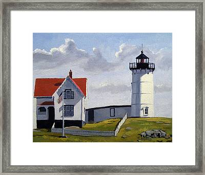 Nubble Lighthouse Maine Framed Print by Christine Hopkins