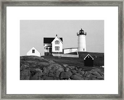 Nubble Lighthouse Framed Print by Will Gunadi
