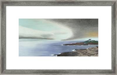 Nubble Storm Framed Print by Dillard Adams