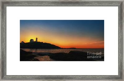 Nubble Sunrise Framed Print by Scott Thorp