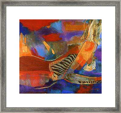 Nude Abstracted Framed Print by Diane Fine
