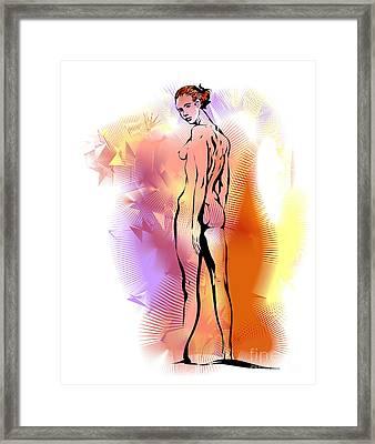 Nude Framed Print by Alex Tavshunsky