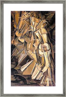 Nude Descending A Staircase Framed Print by Pg Reproductions