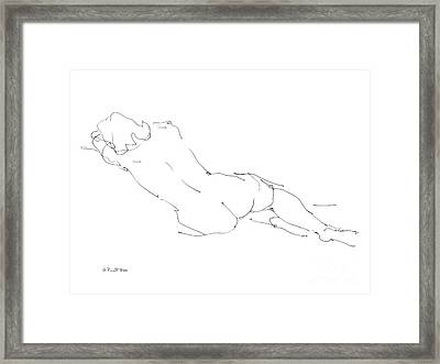 Nude Female Drawings 9 Framed Print by Gordon Punt