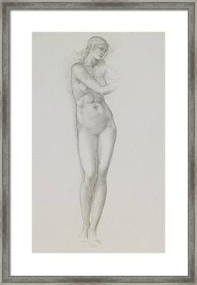 Nude Female Figure Study For Venus From The Pygmalion Series Framed Print by Sir Edward Coley Burne-Jones